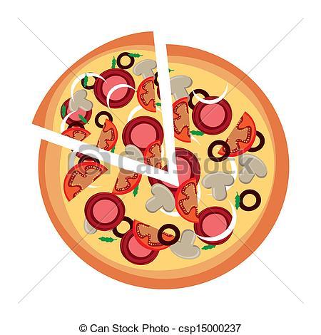 Pizza clipart graphic design Vector design over vector illustration