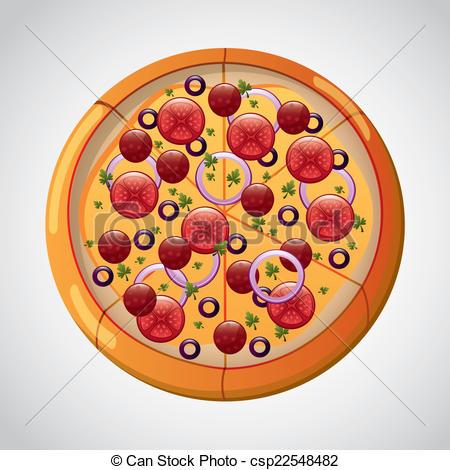 Pizza clipart graphic design Vector design pizza vector