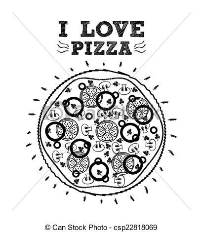 Pizza clipart graphic design Vector of pizza graphic design