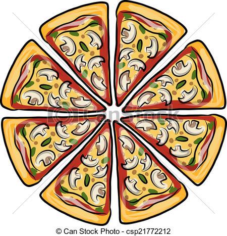 Pizza clipart graphic design Vector Pieces design csp21772212 pizza