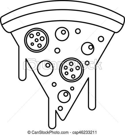 Pizza clipart melted Pizza Slice of icon Slice