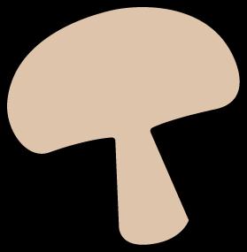 Mushroom clipart mushroom slice #1