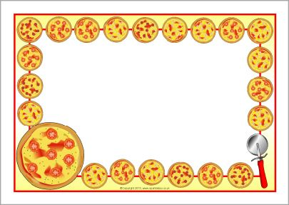 Pizza clipart page border Best A4 SparkleBox AND images