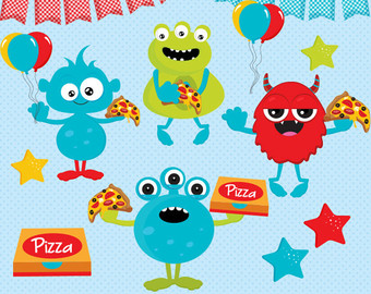 Monster clipart christmas Party clipart clipart Clipart Monster