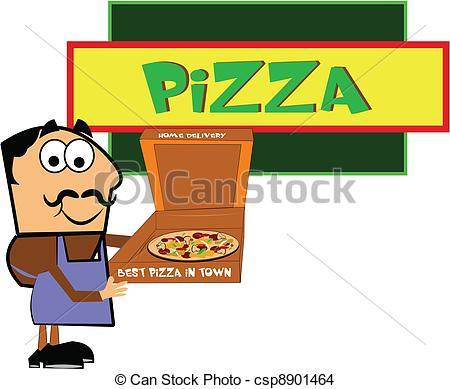 Pizza clipart pizza shop In shop of man pizza