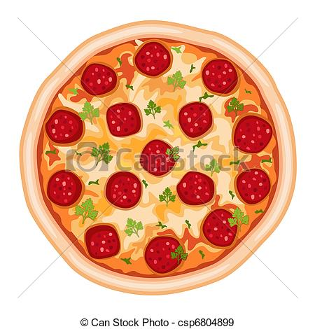 Pizza clipart realistic 26 Pizza Art Illustrations royalty