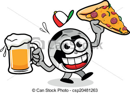 Pizza clipart soccer Soccer cartoon and pizza A