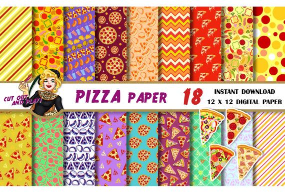 Pizza clipart yellow Backgrounds birthday taco Pizza paper