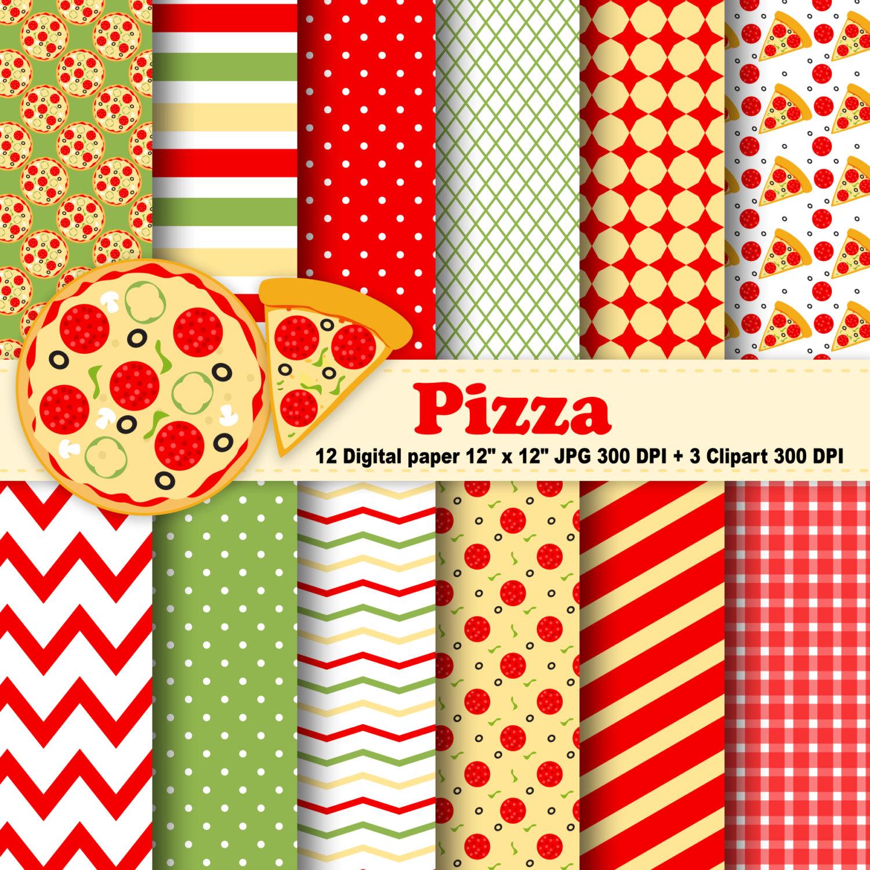 Pizza clipart yellow Polka Stripes Pizza Etsy Pizza