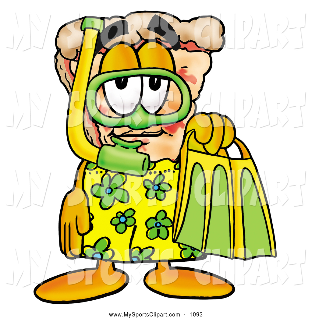 Pizza clipart yellow Green Slice Mascot Sports in