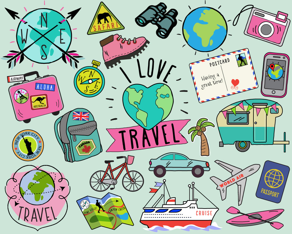 Vacation clipart travel Art Travel clip summer travel