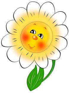 Smiley clipart flower Sun Free Clouds ClipArt Cloud