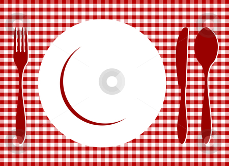 Pl clipart background Tablecloth vector Place red on