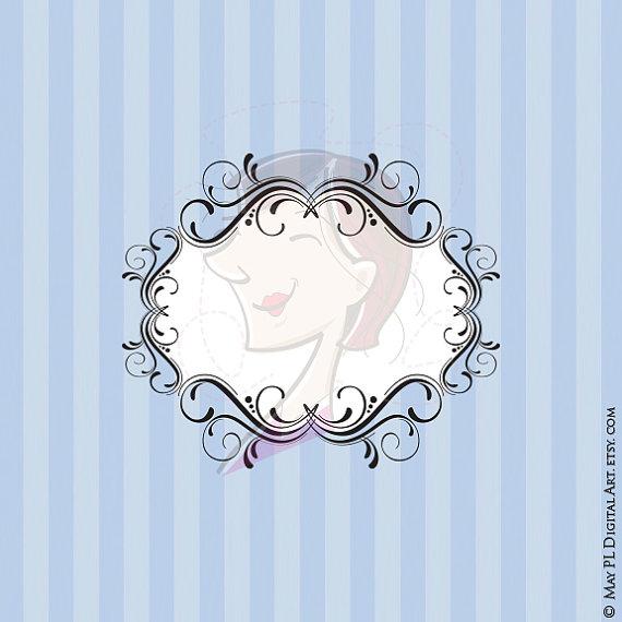 Pl clipart background Frames Foliage Leafage Transparent Swirl
