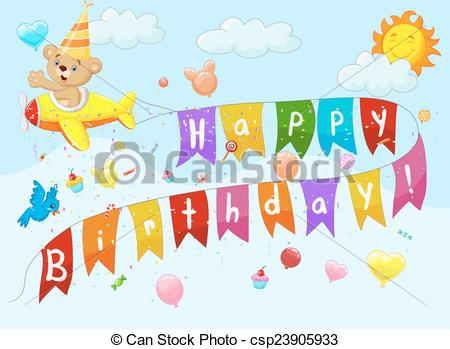 Pl clipart background Birthday  with Birthday pl