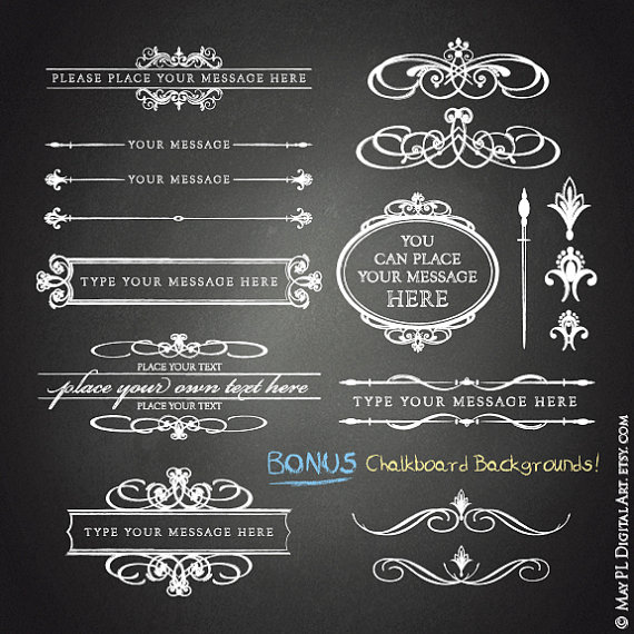 Pl clipart background Chalkboard Wedding Commercial from Background