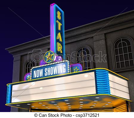 Bulding  clipart movie theater Cliparts Movie Theater Building Retro