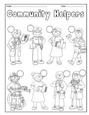 Places clipart community worksheet #1