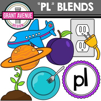 Pl clipart different L Blends PL L Design