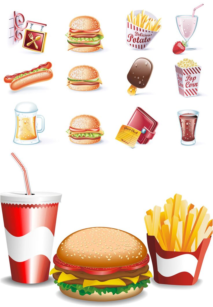 Pl clipart fast food restaurant Vector Fast your dibujos vector