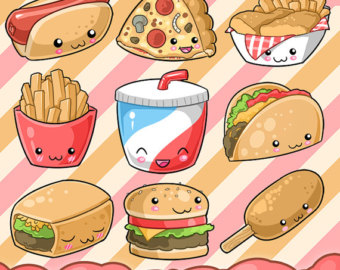 Pl clipart fast food restaurant Fast Kawaii SALE kawaii Food