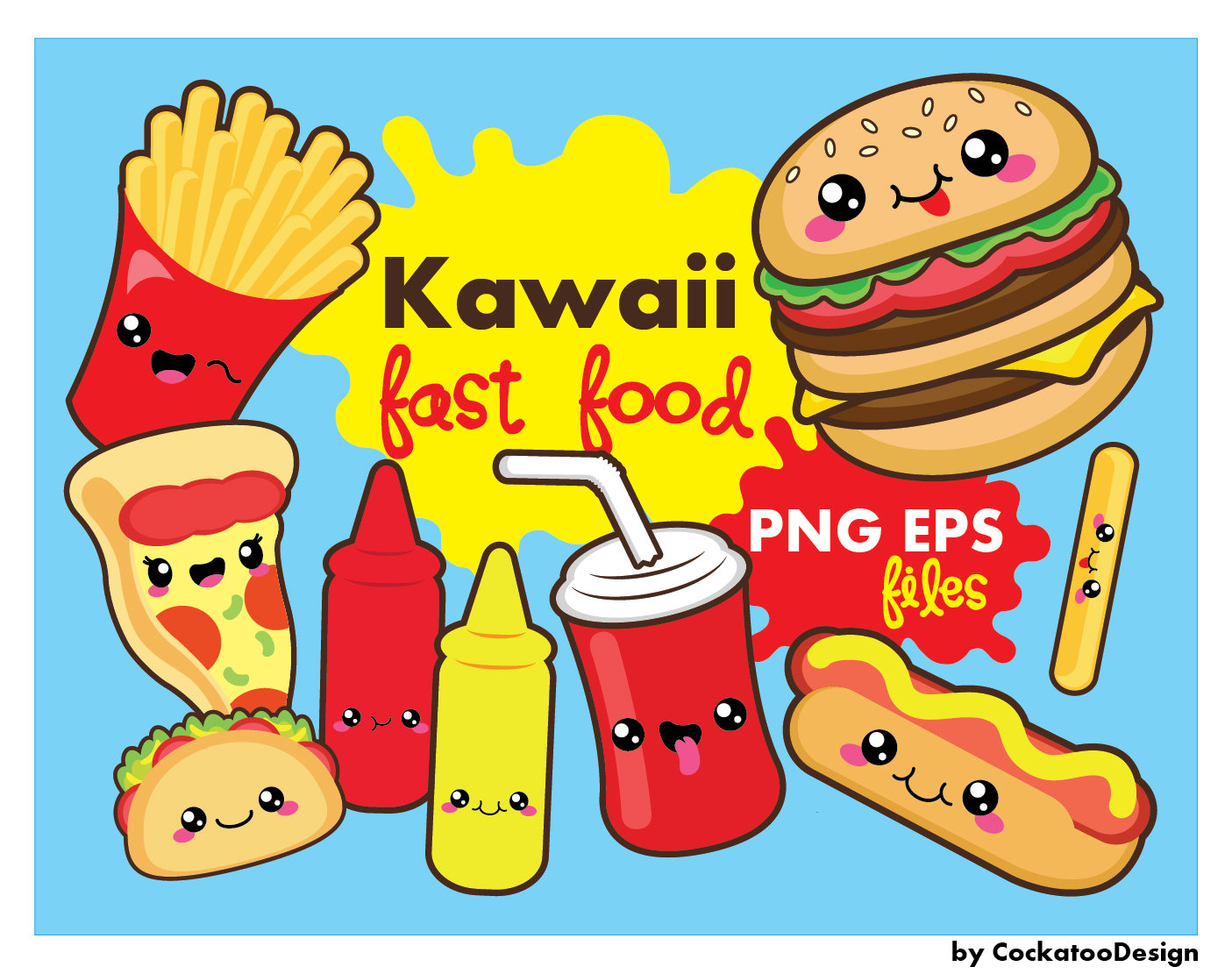 Pl clipart fast food restaurant Kawaii  fast fast 50%OFF