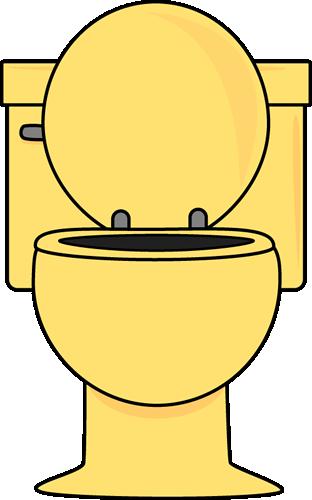 Toilet clipart yellow #1