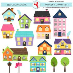 Winter clipart neighborhood SALE Set Art of cute
