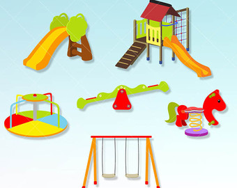 Ring clipart playground Clip party graphics Play kids