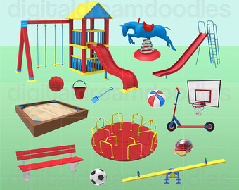 Ring clipart playground Seesaw Etsy Image Playground Merry
