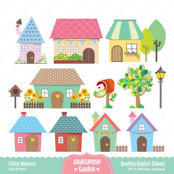 Scenery clipart cute house #6