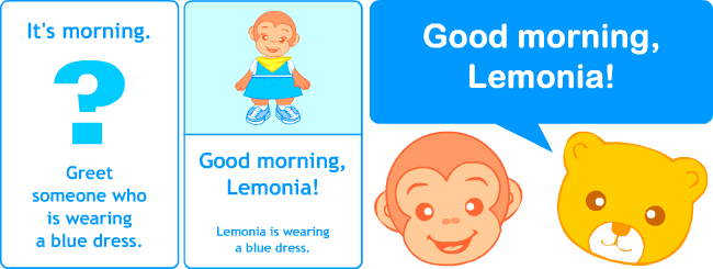 Pl clipart morning afternoon evening Resources Learning Greetings Printable English