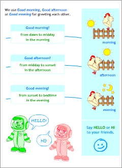 Pl clipart morning afternoon evening Printable resources English expressions English