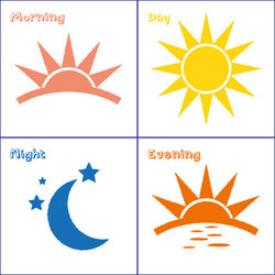 Pl clipart morning afternoon evening Set stock  day icon