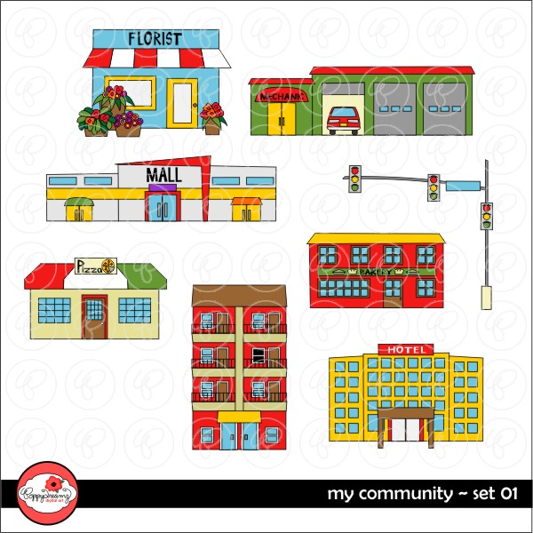 Place clipart community building By Clipart  IN Community