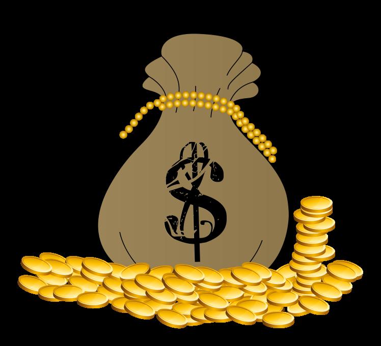 Coin clipart bag gold coin Free Clip Clip Public Art