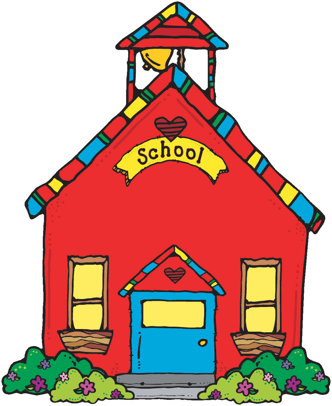 Covered clipart free school House  School library Clip