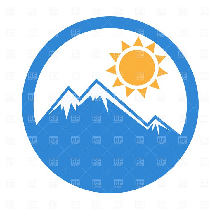 Mountain clipart bottom Best free and Mountain Emblem