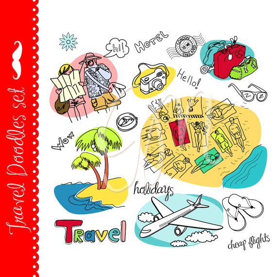 Vacation clipart travel Sea and Travel beach by