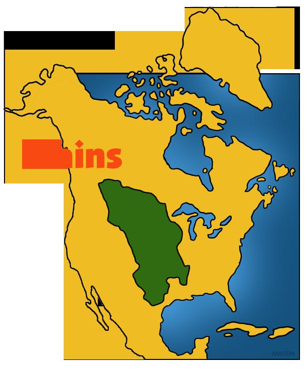 Pl clipart town map Art by Americans Plains Clip