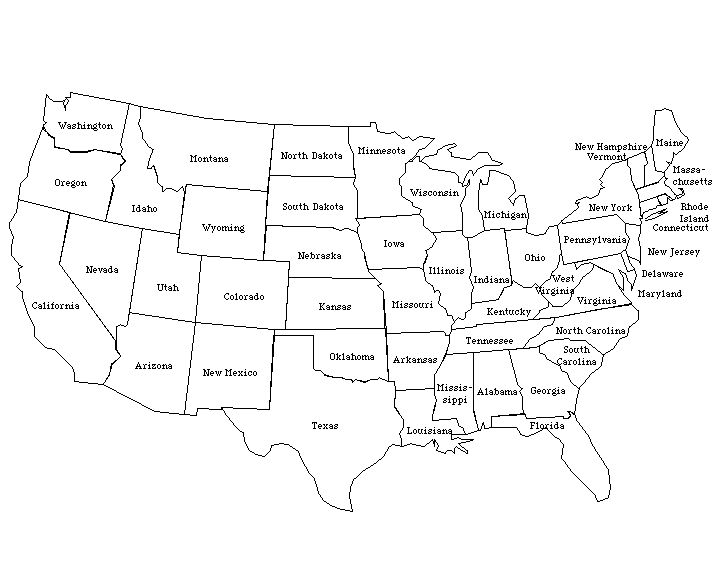Pl clipart town map Ideas United labeled on States
