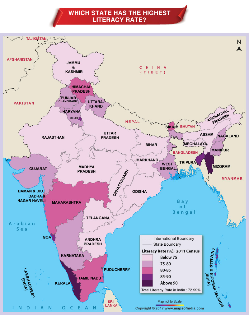 Pl clipart town map Literacy Rate? the Which Highest