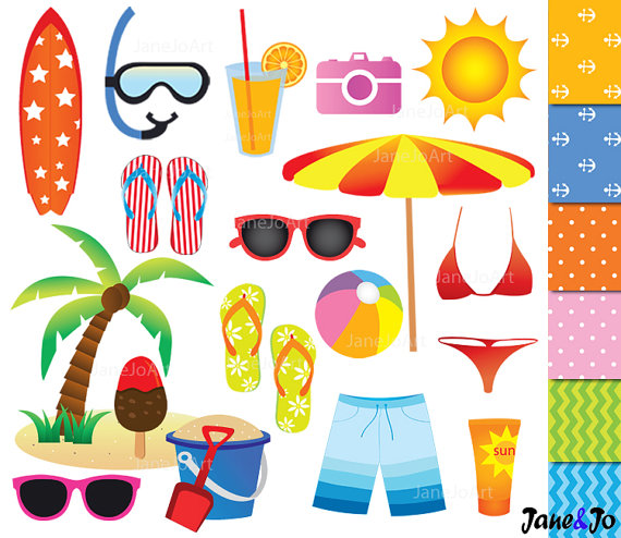 Holydays clipart summer vacation Summer Summer Clipart Beach art