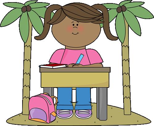 Desk clipart inspector Art Classrom Girl Classrom Vector