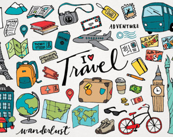 Travel clipart adventure travel Travel Clipart Travel art wanderlust