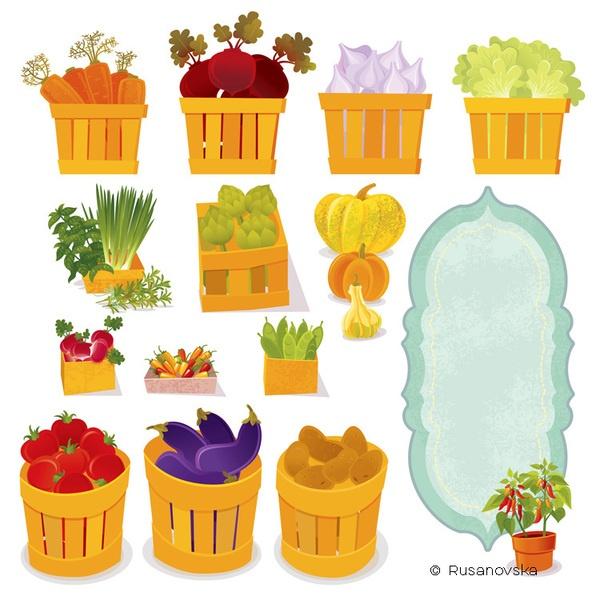 Pl clipart vegetable market #7