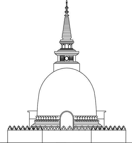 Place clipart buddhist temple #5