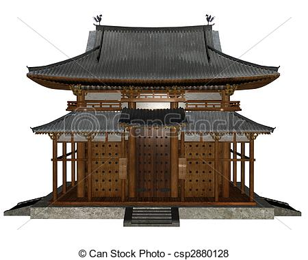 Asians clipart buddhist temple Buddhist Illustration rendered 3D temple
