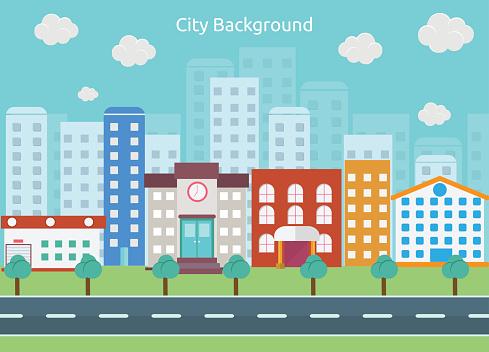 Places clipart city street Street clipart Clip Clip Cliparts