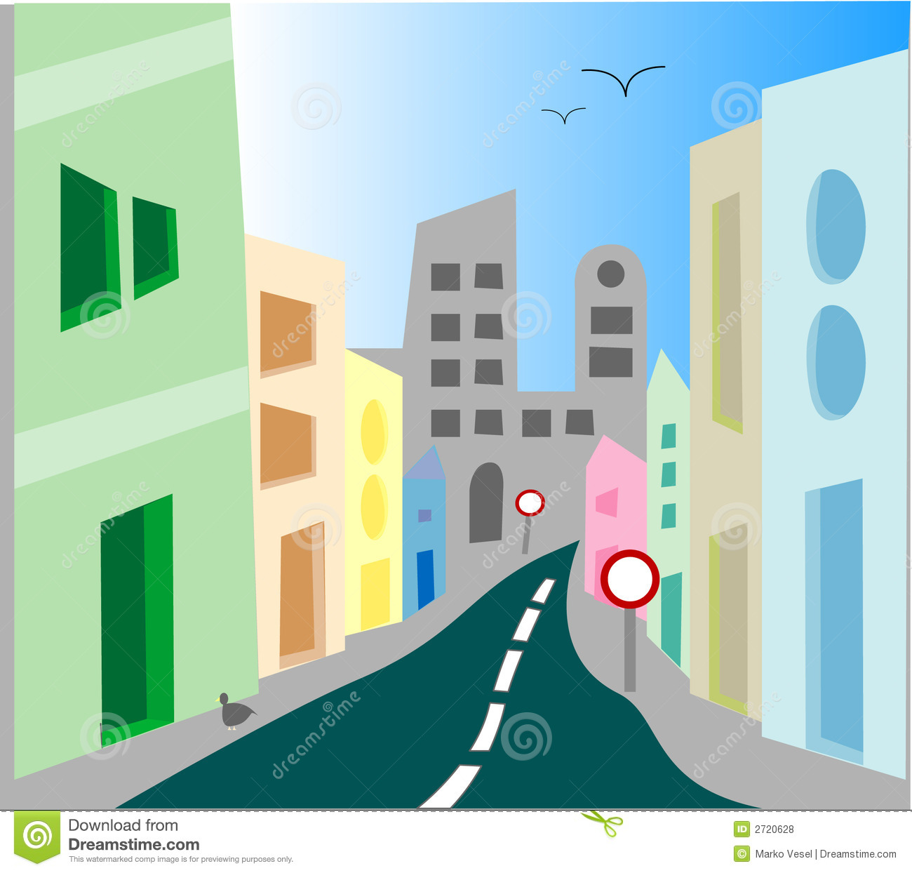 Place clipart city street #4